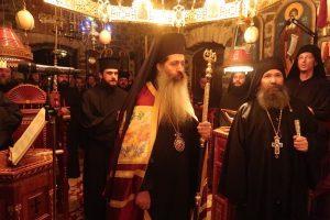 Ιερά Αγρυπνία από τον Σεβασμιώτατο στην πιο ακριτική Μονή της Μητροπόλεώς μας