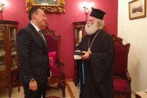 Συνάντηση Υφυπ. Αποδήμου Ελληνισμού κ.Βλάση με τον Πατριάρχη Αλεξανδρείας Θεόδωρο