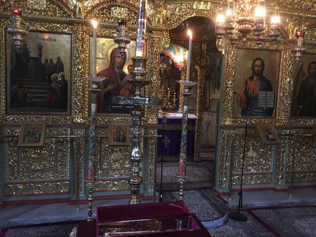 Κεκλεισμένων των θυρών εορτάστηκε σήμερα η Σύναξις του Οσίου Γεωργίου στη Δράμα.