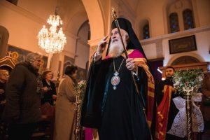 Ο Λήμνου Ιερόθεος στον Άγιο Ανδρέα Λαυρίου για τους Α ´ Χαιρετισμούς
