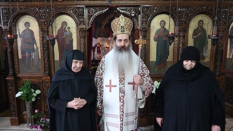 Το ιστορικό πανηγύρι της Ιεράς Μονής Αγίου Γεωργίου Μαλεσίνας κεκλεισμένων των θυρών προεξάρχοντος του Σεβ. Φθιώτιδος Συμεών