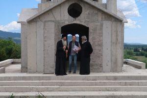Επίσκεψη του Φθιώτιδος Συμεών στο εργοτάξιο του Ιερού Ναού του Οσίου Παϊσίου στην Μακρακώμη