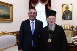 Τηλεφωνική επικοινωνία ΥΦΥΠΕΞ Κ. Βλάση με τον Οικουμενικό Πατριάρχη