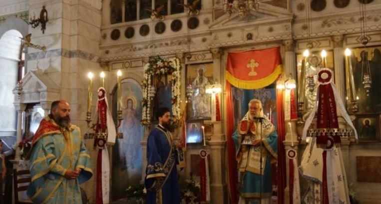 Στον ιστορικό ναό των Αγίων Κωνσταντίνου και Ελένης Ερμούπολης ο Μητροπολίτης Σύρου Δωρόθεος Β ´