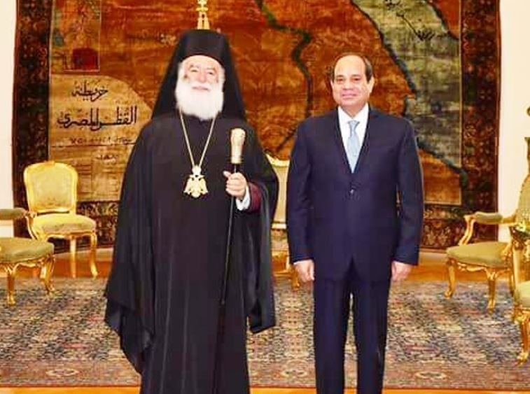Ο Πατριάρχης Αλεξανδρείας κ. Θεόδωρος συγχαίρει τον Αιγύπτιο Πρόεδρο