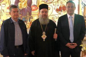 Στη Μητρόπολη Ιερισσού ο υφυπουργός Εξωτερικών κ. Βλάσης με τον Διοικητή Αγίου Όρους κ. Μαρτίνο