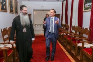 Ο Πρέσβης της Ουκρανίας στην Ελλάδα κ. Serhii Shutenko στην Μητρόπολη Φθιώτιδος.