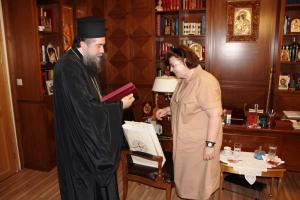 Η Υπουργός Πολιτισμού κ Μενδώνη  επισκέφθηκε τον Μητροπολίτη Σερρών κ. Θεολόγο