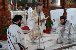 Η Κυριακή της Πεντηκοστής στην Ι. Μητρόπολη Χαλκίδος