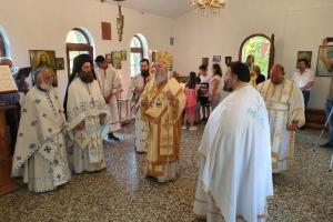 Δευτέρα του Αγίου Πνεύματος ο Σεβ. Χαλκίδος Χρυσόστομος  στην Ευβοϊκή ύπαιθρο, κοντά στον πιστό λαό.