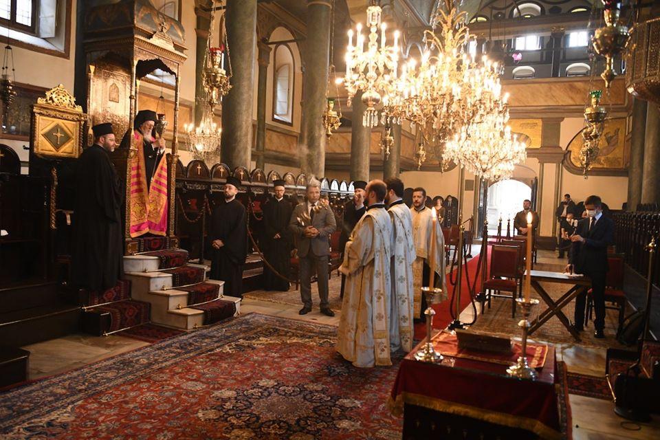 Ο Μέγας Εσπερινός για τα ονομαστήρια του σεπτού Πατριάρχη μας στο Φανάρι