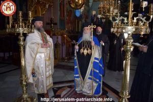 Ο Πατριάρχης Ιεροσολύμων Θεόφιλος με τον Σεβ. Καπιτωλιάδος Ησύχιο στην Ι.Μ. Μάρθας και Μαρίας στη Βηθανία
