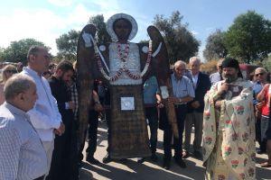 Η λιτανεία της θαυματουργού εικόνας του Αρχιστρατήγου Μιχαήλ στη Μονή Ταξιαρχών στα Νένητα Χίου