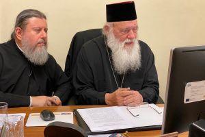 Με την παρουσία του Αρχιεπισκόπου ξεκίνησαν τα εξ αποστάσεως προγράμματα του Ι.Π.Ε.