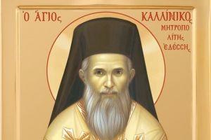 Ο Ναυπάκτου Ιερόθεος για τον νέο Αγιο της Εκκλησίας, Μητροπολίτη Εδέσσης Καλλίνικο, τον Γέροντά του.