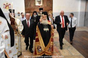 Ο Πατριάρχης Ιεροσολύμων λειτούργησε στην Βασιλική της Γεννήσεως στη Βηθλεέμ