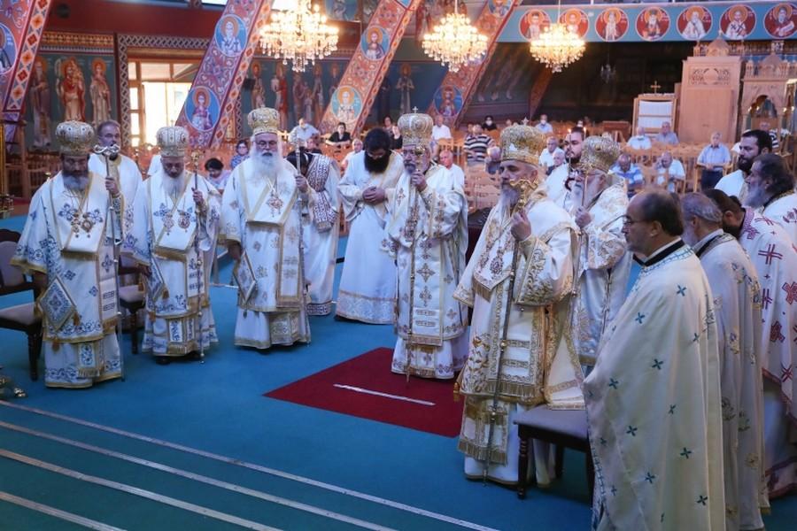 Συλλείτουργο πρoεξάρχοντος του Αρχιεπισκόπου Κύπρου Χρυσοστόμου του Β΄ για την εορτή του Ιδρυτού της Εκκλησίας της Κύπρου