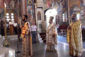 Ο Μητροπολίτης Μεσσηνίας Χρυσόστομος στον Αγ. Ιωάννη Μεσσήνης.