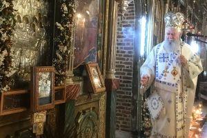 Ο Μητροπολίτης Χαλκίδος Χρυσόστομος στην γενέτειρά του Βασιλικό Χαλκίδος, για το Σάββατο των ψυχών