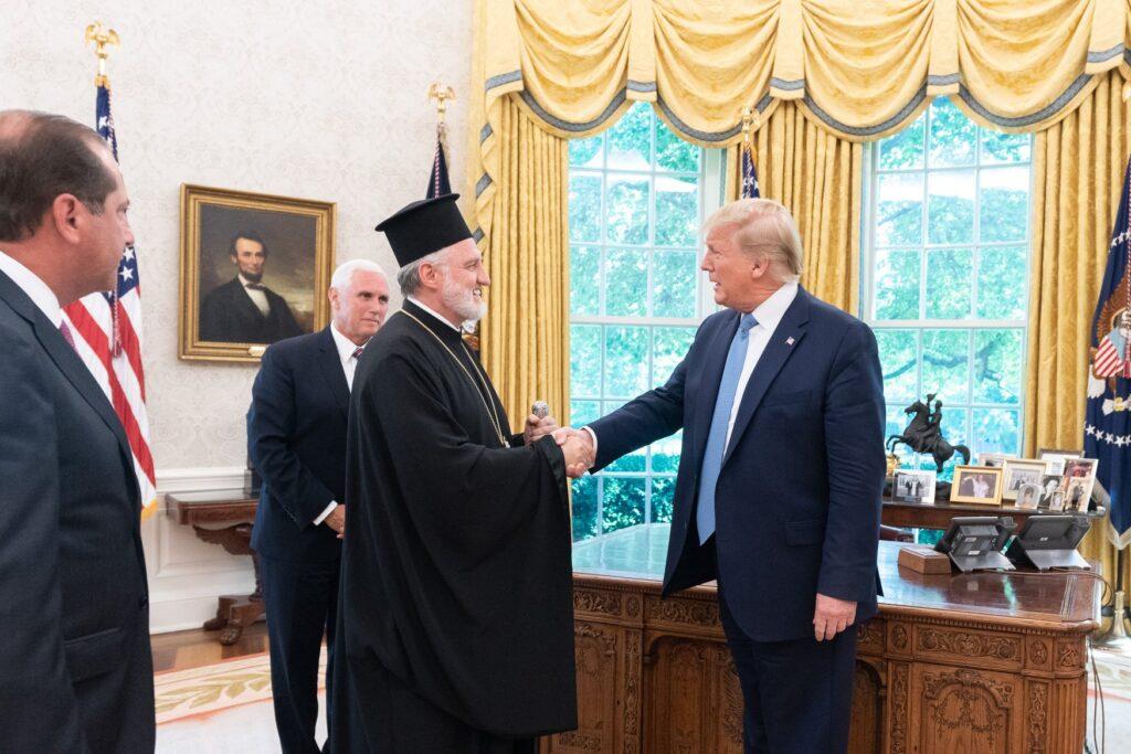 Ο Αρχιεπίσκοπος Αμερικής ενημέρωσε τον Τράμπ για την Αγία Σοφία