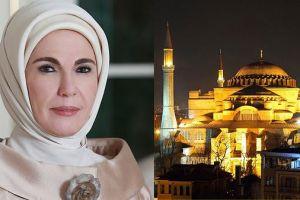 Βγήκε και η Εμινέ ωσάν…πορδή του Ερντογάν: «Δόξα τον Αλλάχ – Θα διατηρήσουμε την Αγιά Σοφιά ως κόρη οφθαλμού»