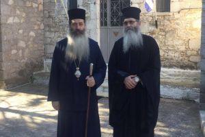 Ο Μητροπολίτης Φθιώτιδος Συμεών στην Ιερά Μονή Αγίου Νικολάου Δίβρης- Το υποδέχθηκε ο Ηγούμενος Αρχιμ. Αρσένιος Κατερέλος