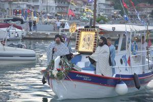 Ο Πλαταμώνας υποδέχθηκε την εικόνα της Παναγίας Τριχερούσας