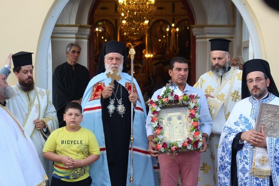 Πανηγυρικός Εσπερινός στον Ιερό Ναό των Αγίων Αναργύρων στη Σύρο