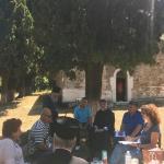 Σύσκεψη του Σεβ. Μητροπολίτη Χαλκίδος Χρυσοστόμου με τους αρμόδιους φορείς αναστηλώσεως της παλαιάς Ι. Μονής Οσίου Νικολάου του Σικελιώτου Μετοχίου Διρφύος