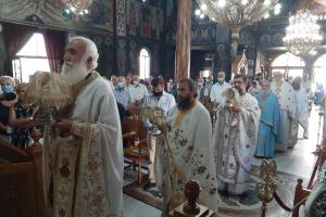 Η εορτή της αποτομής του Τιμίου Προδρόμου στην Ι. Μητρόπολη Χαλκίδος