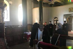 Ο Πατριάρχης και οι Συνoδικοί Αρχιερείς στη Χάλκη