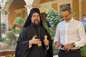 Ο Πρωθυπουργός Κ. Μητσοτάκης στην Ιερά Μονή Αγίας Τριάδος των Τζαγκαρόλων στα Χανιά