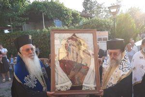 Υποδοχή Ιεράς Εικόνος της Παναγίας στον Ιερό Ναό Αγίου Ανδρέου Σκάλας Ωρωπού