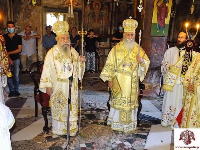 Λαμπρή πανήγυρη στην ιστορική Ι. Μονή Ζερμπίτσης με τους Σεβ.Σπάρτης Ευστάθιο και Καλαβρύτων Ιερώνυμο