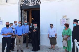 Η Υπουργός Πολιτισμού  Λίνα Μενδώνη στη Χαλκίδα για τον παλαιοχριστιανικό ναό της Αγίας Παρασκευής