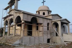 Σε εξέλιξη οι εργασίες ανοικοδόμησης του Ιερού Ναού στο Νοσοκομείο Αιγίου