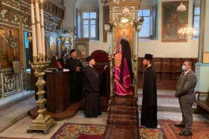 Ο Πατριάρχης στον Άγιο Νικόλαο Τοπκαπί για τον εσπερινό του Σταυρού