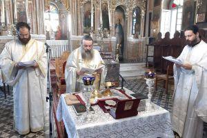 Ἡ Θεία Λειτουργία τοῦ Εὐαγγελιστοῦ Μάρκου στὸν Ἱερὸ Παρθενώνα Παναγίας Βοηθείας Χίου