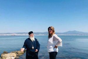 Συνάντηση του Σεβ. Νεαπόλεως Βαρνάβα με την Μαρία Αντωνίου για την ανάπτυξη του Καλοχωρίου