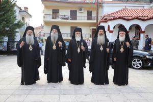 Πολυαρχιερατικό συλλείτουργο για τον Πολιούχο και προστάτη της Μητροπόλεως Σταγών και Μετεώρων Άγιος Βησσαρίωνα