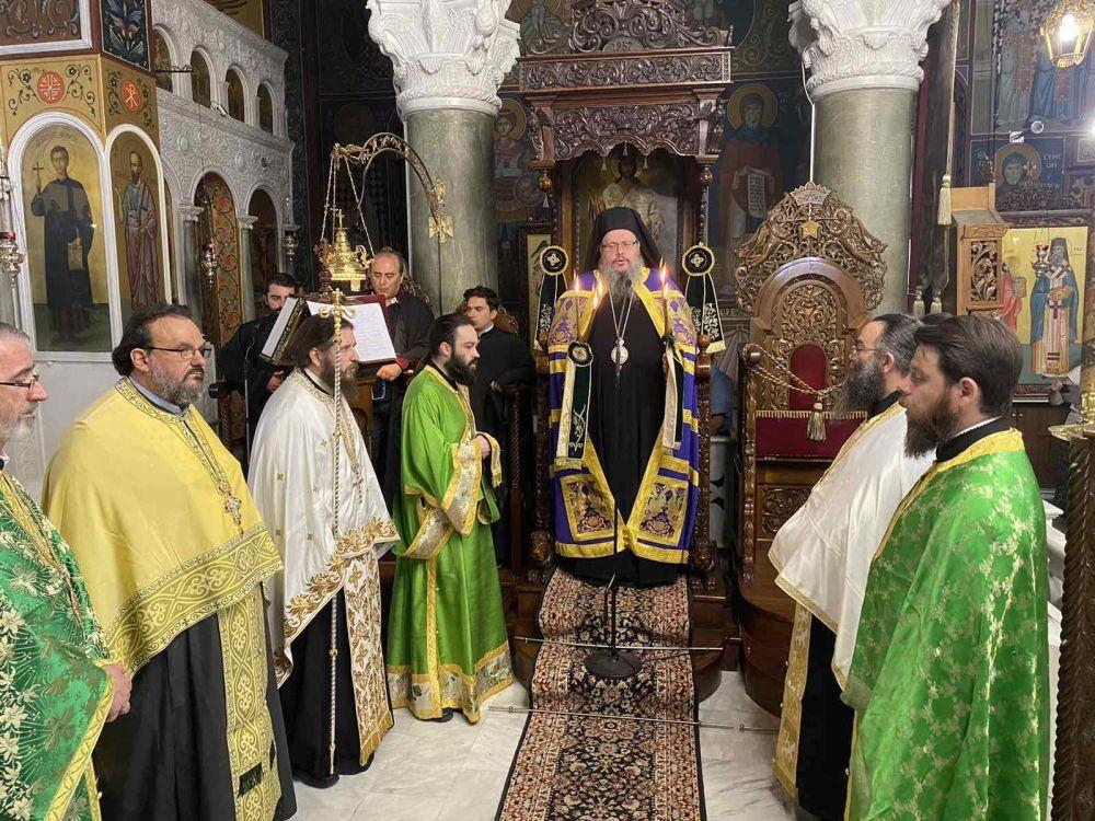 Πανηγυρικός Εσπερινός για την μεγάλη εορτή της παγκοσμίου Υψώσεως του Τιμίου Σταυρού στη Λάρισα