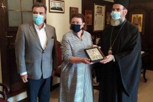 Επίσκεψη της Υπουργού Πολιτισμού στον Μητροπολίτη Σύμης