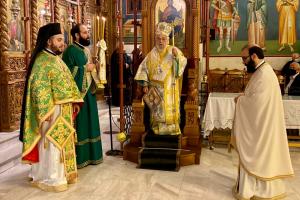 Ο Σεβ. Βρυούλων κ.  Παντελεήμων ιερούργησε και κήρυξε στην Αγία Παρασκευή Μενεμένης