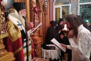 Κουρά Μοναχού στην Ι. Μητρόπολη Περιστερίου