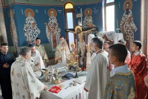 Ο Σεβ. Μητροπολίτης Χαλκίδος κ. Χρυσόστομος στον Άγιο Γεώργιο Βατώντα