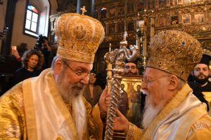 Τηλεφωνική επικοινωνία του Οικ. Πατριάρχη με τον Αρχιεπίσκοπο Κύπρου