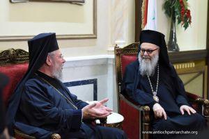Επικοινωνία του Πατριάρχη Αντιοχείας με τον Αρχιεπίσκοπο Κύπρου