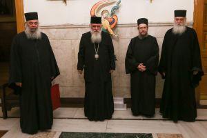 Συνάντηση Αρχιεπισκόπου με εκπροσώπους της Ιεράς Κοινότητας του Αγίου Όρους για την μεταφορά της εικόνας «Άξιον Εστίν»