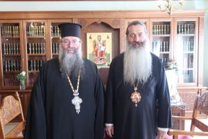 Ο Έξαρχος του Παναγίου Τάφου στην Ελλάδα στην Ι. Μ. Φθιώτιδος- Του επεφύλαξε θερμότατη υποδοχή ο Σεβ. Φθιώτιδος  κ.Συμεών