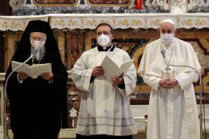 Ο Οικουμενικός Πατριάρχης σε Διαθρησκειακή Συνάντηση για την ειρήνη με τον Πάπα